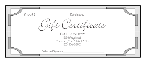 Gift Certificate Template 7